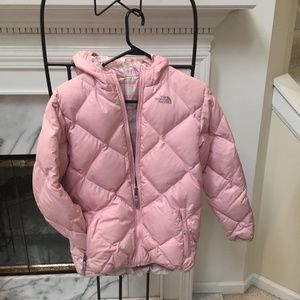 North Face Girl's Down Winter Jacket-Reversible XL